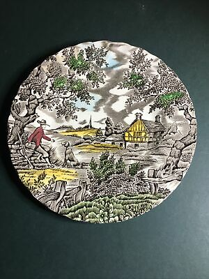 £3.75 • Buy The Hunter By Myott Brown Transfer Ware Plate Hand Coloured 17cm