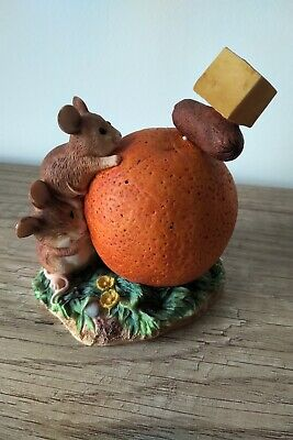 New RARE MERRIE MICE Border Fine Arts 2001 Fruit Fun Mouse Cocktail Party A0603 • 19.95£