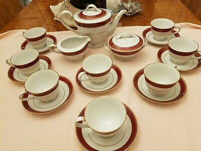 Noritake Goldmere 6525 Porcelain Tea Set • 100£