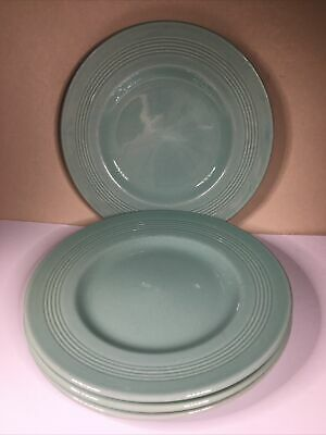 4 Vintage Woods Ware Green Beryl Side  Plates 17cm From 1940-59 • 8£