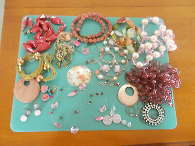 $ CDN8.88 • Buy Pink Shades Vintage Jewelry Lot 16 Pcs Pairs Lia Sophia Quality For Pet Rescue