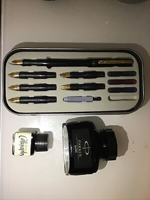 Manuscript Deluxe Calligraphy Set With Parker Quinn Black Ink • 12£