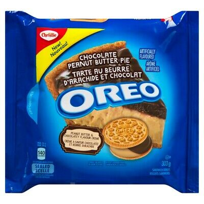 6PACK OREO Peanut Butter Pie Sandwich Cookies Resealable Pack 303g -FRESH CANADA • 23.95£