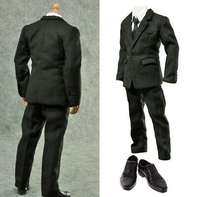 $35.24 • Buy 1/6 Black Suit Set Clothes For Enterbay 12in Male Action Figure Accessories
