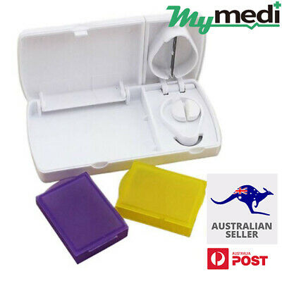 AU5.95 • Buy Pill Cutter Box Tablet Splitter Divider Convenient Portable Medicine Organizer