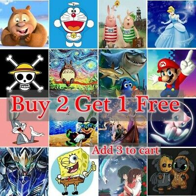 AU11.88 • Buy Cartoons Characters 5D DIY Full Drill Diamond Painting Kits Home Art Decors Gift