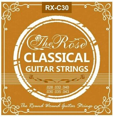 $ CDN8.63 • Buy Classical Guitar Strings - Rose Normal Tension Nylon Strings