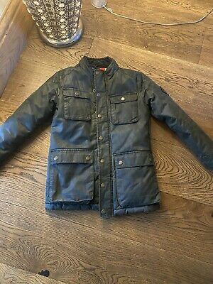 Boys Joules Green Wax Jacket Age 8 Yrs • 4.99£