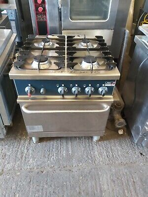 Stott Benham 4 Burners NAT GAS Cooker With Oven Commercial Heavy Duty Catering • 625£