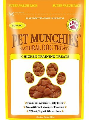 £11.99 • Buy Pet Munchies 100% Natural  Dog Training Treats  Chicken 8 X 50g Pouches