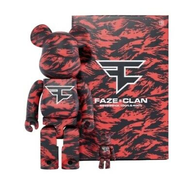 $195 • Buy FaZe Clan X BEARBRICK 400% & 100% Set LIMITED EDITION SOLD OUT!! 100% SEALED!!!!