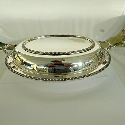 Vintage Silver Plate  Entree Dish With Side Handles  • 14.99£