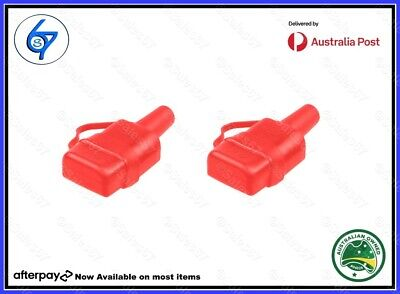 AU9.95 • Buy 2 Waterproof 50A Anderson Plug Dust Cable Sheath Cover Red With Cap, New 20/21
