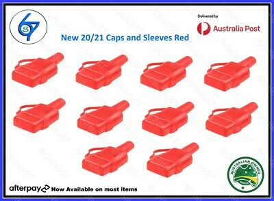 AU29.95 • Buy 10 Waterproof 50A Anderson Plug Dust Cable Sheath Cover Red - Cap, New 20/21