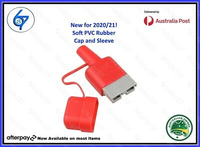 AU5.95 • Buy Waterproof 50A Anderson Plug Dust Cable Sheath Cover Red With Cap, New 20/21