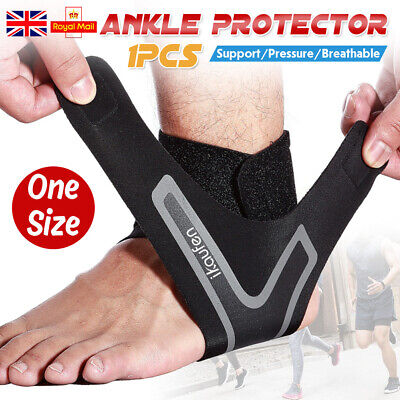 Adjustable Breathable Ankle Support Brace Strap Sports Running Weak Joint Injury • 3.79£