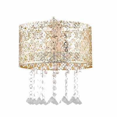 £15.99 • Buy Modern Gold Metal Jewelled Easy Fit Ceiling Light Shade Chandelier