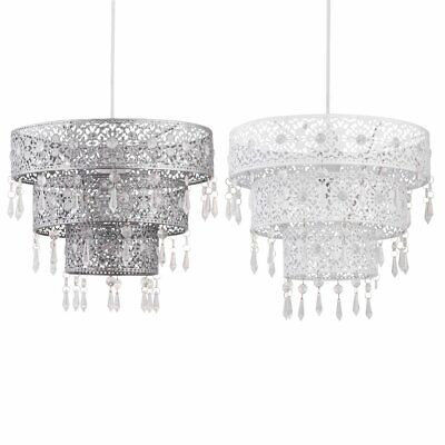 Modern Three Tier Morrocan Desgin Jewelled Ceiling Light Shade Pendant • 17.99£