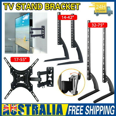 AU23.50 • Buy Universal Table Top TV Stand Legs Mount LED LCD Flat TV Screen 14-75'' Bracket
