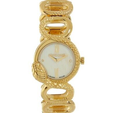 Brand New Roberto Cavalli Ladies Watch Gold Tone Analogue RRP £799 • 350£