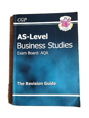 AS -Level Business Studies AQA Revision Guide By CGP Books Paperback Book The • 1.30£