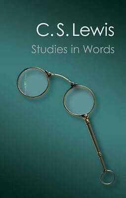 £12.40 • Buy Studies In Words By C. S. Lewis