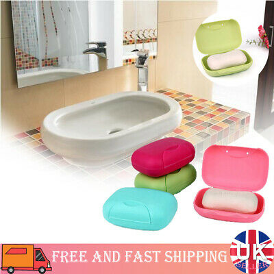 2PCS Portable Travel Soap Dish Box Case Holder Container Home Bathroom Shower • 3.94£