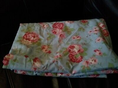 Cath Kidston Rosali Roses/gingham Ikea Cotton Single Quilt Cover Good Condition • 3.20£