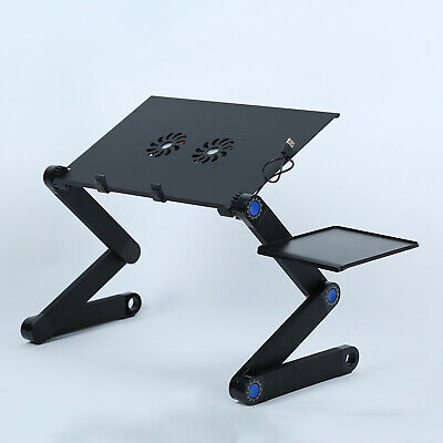 Laptop Stand Desk Lap Bed Table Tray Computer Portable Foldable Adjustable Y6I6 • 17.12£