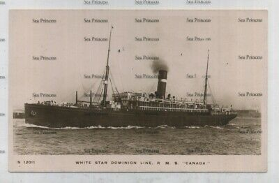 White Star Line Postcard RMS Canada Dominion In Mersey Liverpool • 16.50£
