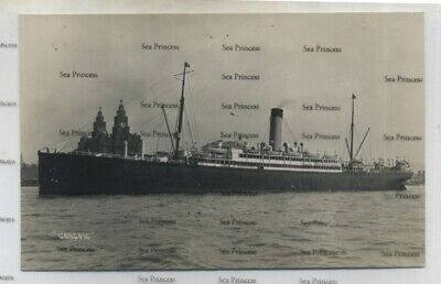 White Star Line Postcard RMS Canopic In Mersey Liverpool C1920s By Fielden • 16.50£