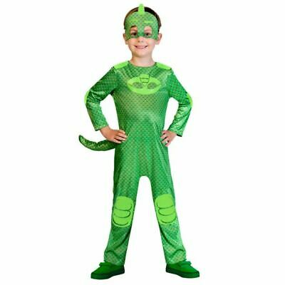 Kids PJ Masks Gecko Pyjama Superhero Fancy Dress Costume Childs Outfit • 14.90£
