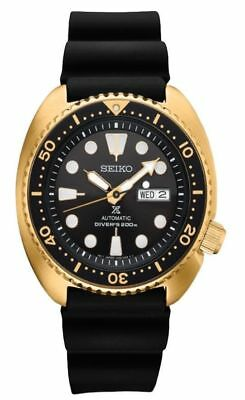 $ CDN438.49 • Buy Seiko Men's Prospex Automatic Diver Gold Tone Silicone Strap  Watch SRPC44