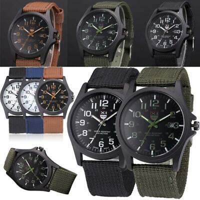 AU14.94 • Buy Mens Date Stainless Steel Military Sports Analog Quartz Army Wrist Watch BK AU