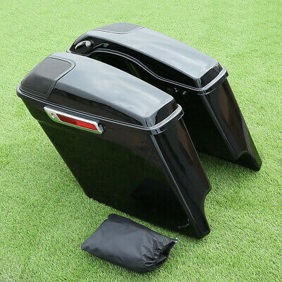 $ CDN469.05 • Buy 5  Stretched Extended Saddlebags W/ Speaker Cutout For Harley Road King 14-20 16