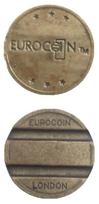 40x EUROCOIN LONDON TOKENS FOR FRUIT MACHINES (POSSIBLY BARCREST / JPM / BFM Etc • 9.99£