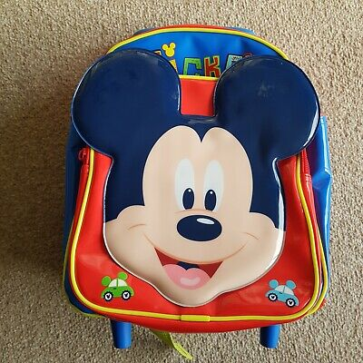 Mickey Mouse Pull Along Case From The Disney Store Flight Bag Trolley Holiday  • 8.99£