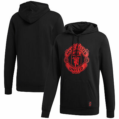 Mens Adidas Manchester United DNA Casual Sport Football Hoody Hoodie Top - Black • 54.95£