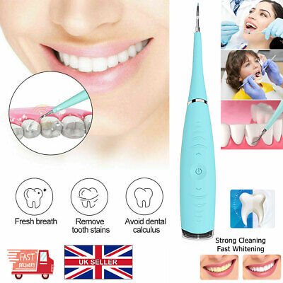 £10.42 • Buy Ultrasonic Tooth Cleaner Electric Oral Irrigator Cleaning Kit Teeth Stain Dental