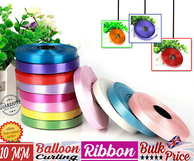 $3.79 • Buy 10mm Full Reel Of Curling 50m Ribbon - CHOOSE COLOUR - Balloons Gift Wrapping