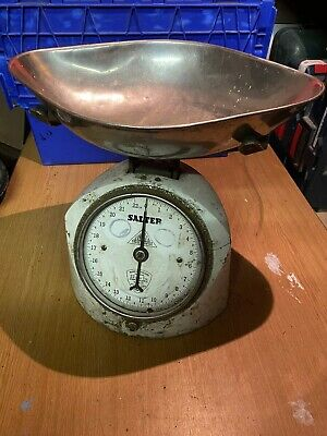 Vintage SALTER Kitchen Weighing Scales & Tray #20 • 22.77£