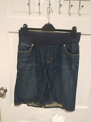 Gap Maternity Knee  Distressed Length Denim Skirt Size 10  • 2.99£
