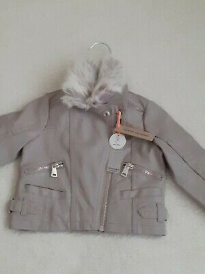 £25 • Buy Brand New River Island Mini Baby Leather Jacket 6-9 Months