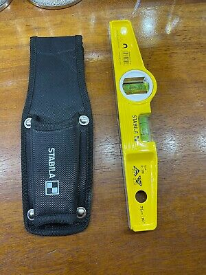 STABILA 81s Magnetic Scaffolders Boat Level X2 Brand New 2 Off With Holsters • 46£