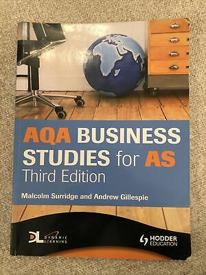 AQA Business Studies For AS (A Level Business Studies) By Malcolm Surridge • 1£