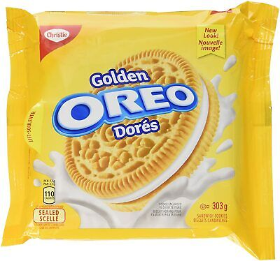£6.52 • Buy 3PACK OREO Golden Sandwich Cookies Resealable Pack 303g -FRESH CANADA