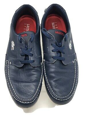 Lacoste Sport Dreyfus AP Casual Blue Leather Lace-up Boat Shoes Men's Sz 10.5  • 21.10£
