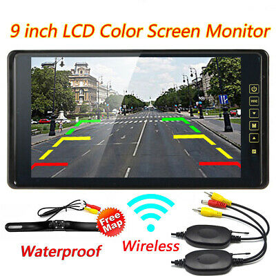 AU89 • Buy 9  Wireless TFT LCD Monitor Screen Reversing Car Rear View Kit IR Reverse Camera
