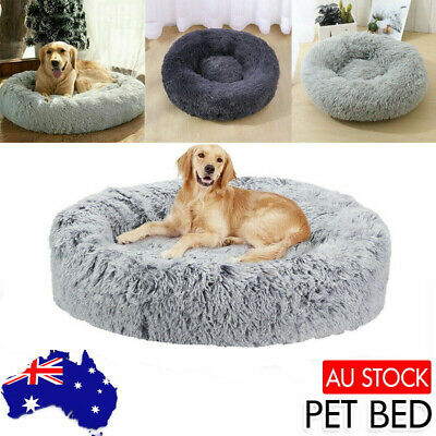 AU28.99 • Buy NEW Pet Dog Cat Calming Bed Warm Soft Plush Round Nest Comfy Rest Kennel Cave AU
