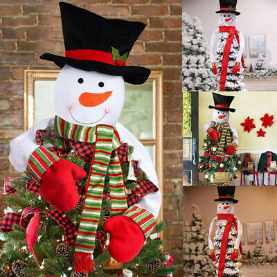 Snowman Christmas Tree Topper Ornaments Indoor Outdoor Decoration Xmas Gifts UK • 9.59£